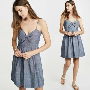 Madewell Chambray Tie-Front Cami Dress